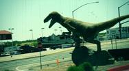 T182 suburban dinosaur dino Stock Footage