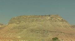 Masada wide zoom Stock Footage