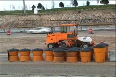 Roadside Street Sweeper (Construction) Stock Footage