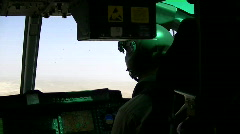 The inside of a helicopter (HD) k Stock Footage