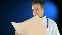 Doctor giving bad news Stock Footage