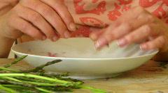 Asparagus prep Stock Footage