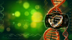 DNA heat signature scan  Stock Footage