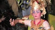 BALANISE GIRLS DANCING Dancers Costume Art perform Ubud, Bali, Indonesia Stock Footage