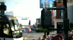 Time Lapse of Crosswalk in Busy City Stock Footage
