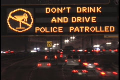 Don't drink and Drive. Stock Footage