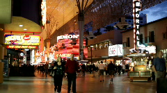 People walking on Fremont Street Stock Footage