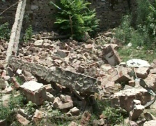 Building destroyed by Terrorists- War On Terror Stock Footage