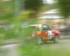 Classic rally car toyota Stock Footage