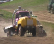 Stock Video Footage of autocross truck jump 2