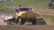 Autocross truck jump 2 Stock Footage