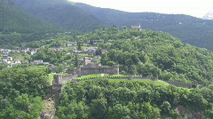 Hilltop castles sunny day Stock Footage
