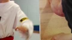 Martial Arts Board Splitting 2 - stock footage
