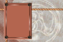 4831 rope buttons tan gold frame background  Stock Footage