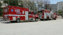 Fire Engine and Ambulance Stock Footage
