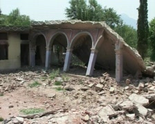 School destroyed by Terrorists- War On Terror - stock footage