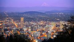 Portland, Oregon Skyline Time Lapse - stock footage