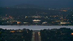 Canberra by night2 1080 Stock Footage