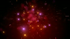 Red Sparkle Explode Stock Footage