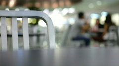 Chair in cafeteria - stock footage