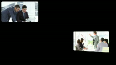 Montage of assertive businessmen at work Stock Footage