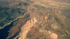 T183 desert lake powell powel aerial airplane Stock Footage