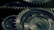 Stock Video Footage of  	 Industrial Machinery Consisting of 3d Metal objects