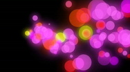 Stock Video Footage of Animated Background Consisting of Colorful Particles