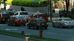 Busy City Traffic at Intersection - stock footage