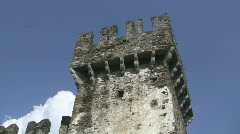 Castle tower detail Stock Footage