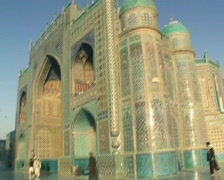 Afghanistan mazare sharif mosque Stock Footage