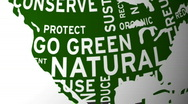 Global green words Stock Footage