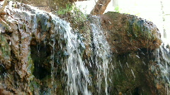 Mini Waterfall over dirt ledge Stock Footage