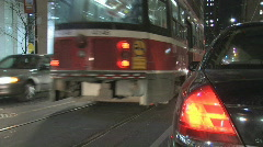 Cabs, cars and streetcars.  Stock Footage