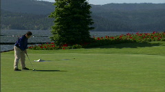 Lakeside Golf Course Stock Footage