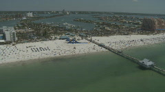 Aerial Clearwater Beach Spring Break Stock Footage