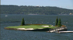 Lakeside Golf Course 5 Stock Footage