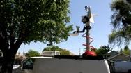 Raising Mast on News Van Stock Footage