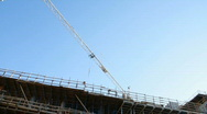 Stock Video Footage of Construction crane in blue sky 4