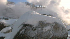 VALLEY OF GEYSERS. WINTER - stock footage