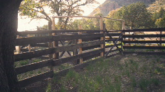 T184 faraway ranch corale horse stable western west Stock Footage