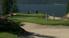 Lakeside Golf Course 9 Stock Footage