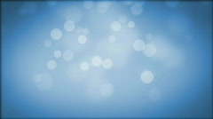 Moving Particles. Blue. Stock Footage