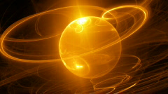 Orange sphere zooming motion background d2814D P Stock Footage