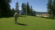 Stock Video Footage of Lakeside Golf Course 10