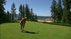 Lakeside Golf Course 11 - stock footage