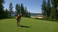 Lakeside Golf Course 11 Stock Footage