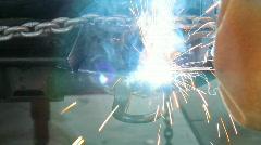 Welding Car Frame Stock Footage