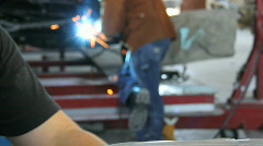 Auto Body Shop - stock footage