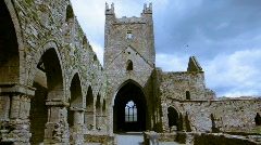 Jerpoint Abbey 3 - stock footage